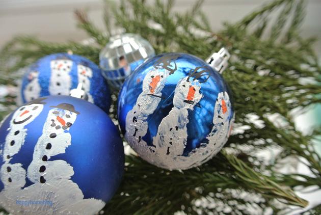 Weihnachtskugeln Mit Handabdruck Happyhomeblog