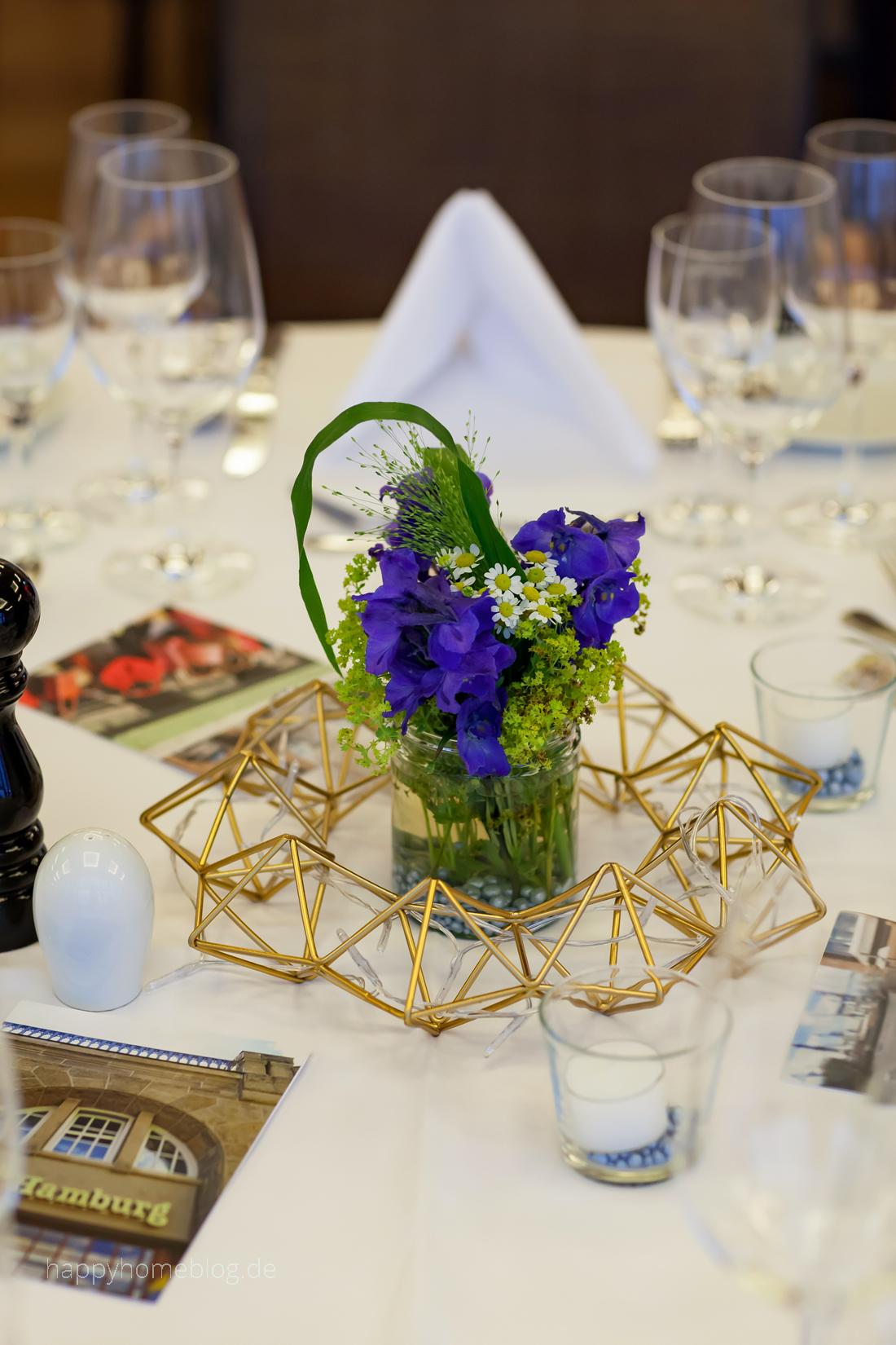 Tischdeko Messing Mit Blau Grun Happyhomeblog